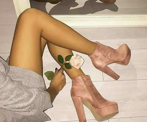 ankleboots, flower, and girls image