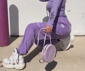 aesthetic, purple, and clothes image