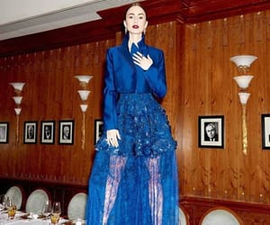 blue, british vogue, and dinner image