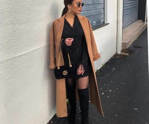 black, coat, and boots image