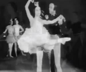art, monochrome, and ballerina image