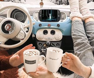 car, coffe, and fiat image