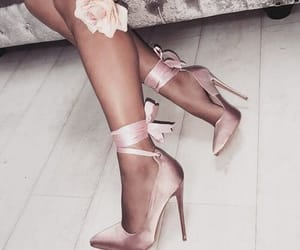 bows, flowes, and high heels image