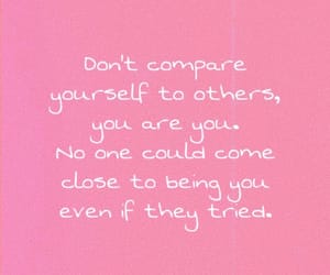 compare, yourself, and selfconfidence image