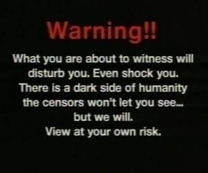 dark, aesthetic, and warning image