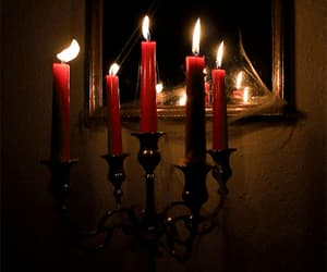 candles, red, and fire image