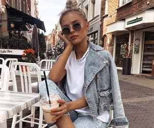 blond, street, and white image