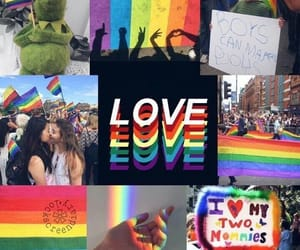 rainbow, background, and gay image