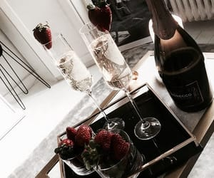 drink, champagne, and lifestyle image