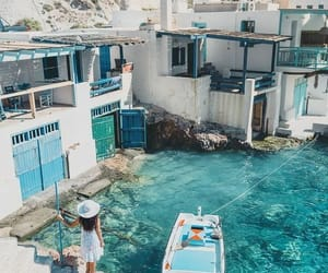 travel, blue, and Greece image