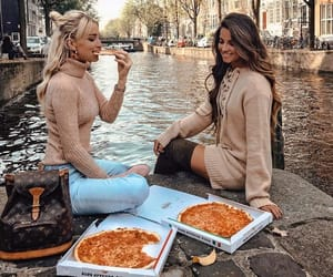 pizza, fashion, and friendship image