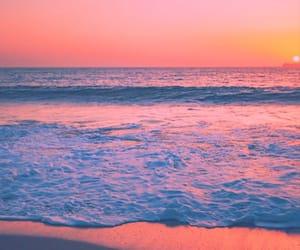 beaches, paradise, and sunrise image