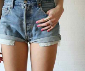 fashion, shorts, and nails image