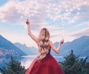 dress, hair, and lights image
