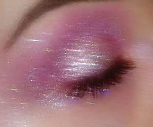 pink, make up, and aesthetic image