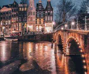amsterdam, canals, and travel image