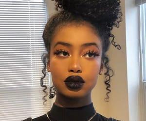 black, makeup, and woman image