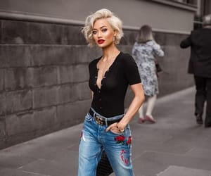 fashion, blonde, and street style image