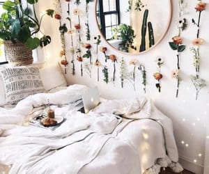 bedroom, flowers, and room image