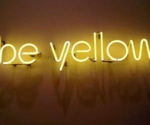 neon, yellow, and aesthetic image
