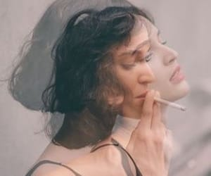 girl, cigarette, and photography image