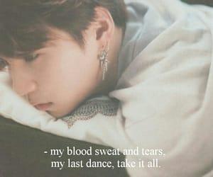 kpop, Lyrics, and blood sweat and tears image