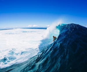 sea, blue, and surf image