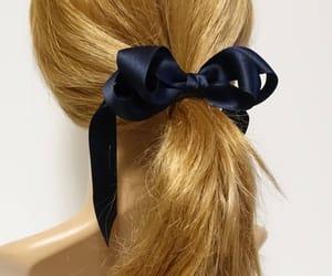 etsy, hair accessory, and satin hair bow image