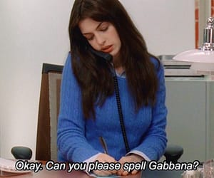 quotes, Anne Hathaway, and the devil wears prada image