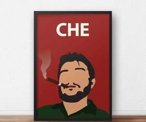 Castro, cigar, and inspirational poster image