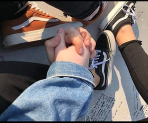 couple, hands, and vans image