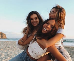 girls, friends, and friendship image