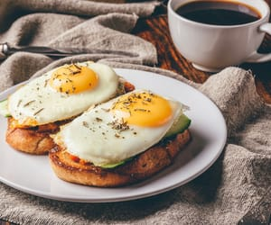 breakfast, coffee, and eggs image