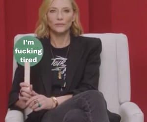 cate blanchett, memes, and mood image