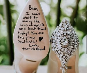 love, wedding, and shoes image