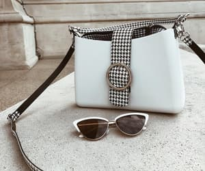 accesories, bag, and black and white image