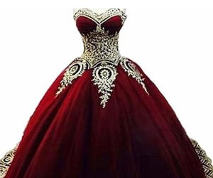 dress, red, and rojo image