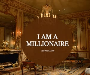 law of attraction, millionaire, and money image