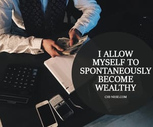 law of attraction, millionaire, and affirmations image