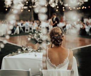 wedding, beautiful, and white image