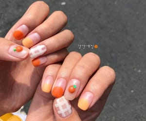 nails, orange, and pattern image