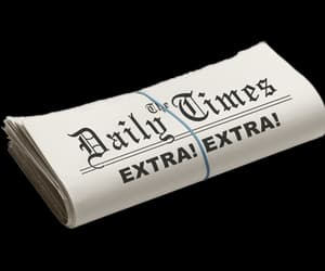 daily, newspaper, and png image