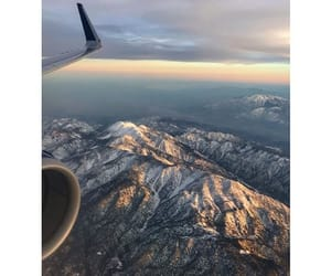 clouds, Flying, and mountain image