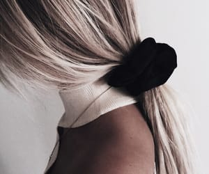 blonde hair, scrunchie, and hairstyle image