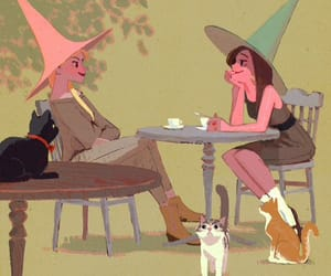 cats, spell, and tea image