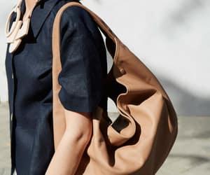 bho and leather hobo bag image
