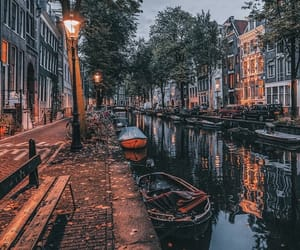 amsterdam, boats, and Houses image