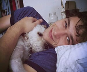 brandon flynn, animal, and dog image