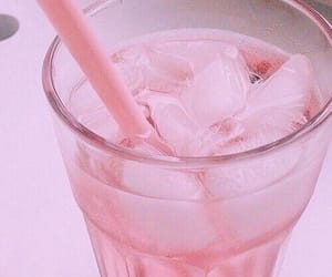 pink, drink, and ice image