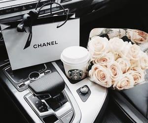chanel, car, and starbucks image